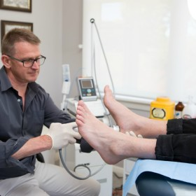 radial shockwave therapy, Podiatry on Pako